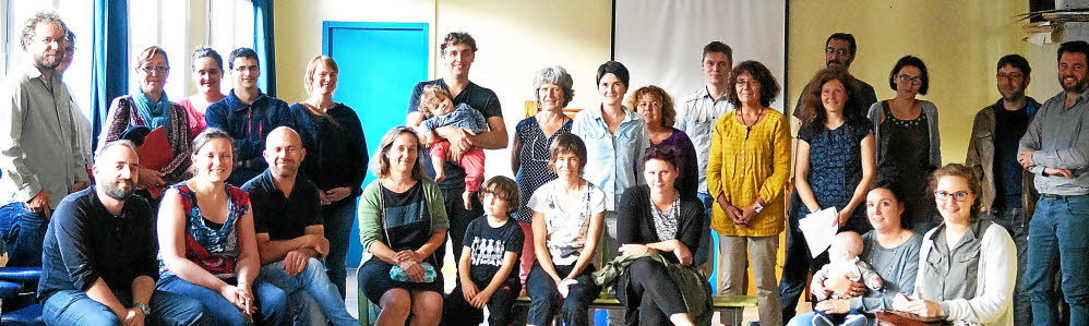 Les nouvelles familles avec l'équipe pédagogique